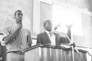 Our guest preacher with Jovani translating