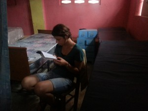 Caroline Studying